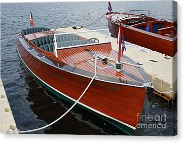 Wooden Boat Canvas Print - 1930 Chris Craft by Neil Zimmerman
