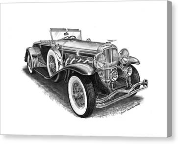 1930 Duesenberg Model J Canvas Print by Jack Pumphrey