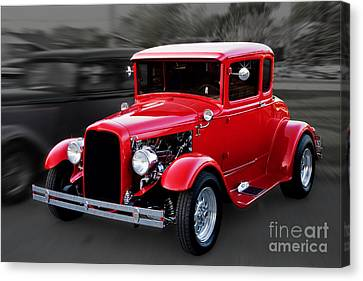 1930 Ford Model A Coupe Canvas Print by Gene Healy