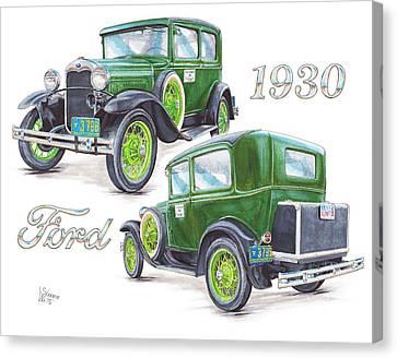 1930 Model A Ford Sedan Canvas Print