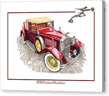1930 Packard 733 Convertible Roadster Canvas Print by Jack Pumphrey