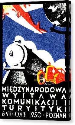 1930 Poznan Poland Expo Poster Canvas Print