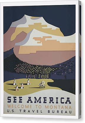 1930 See America Canvas Print by American Classic Art
