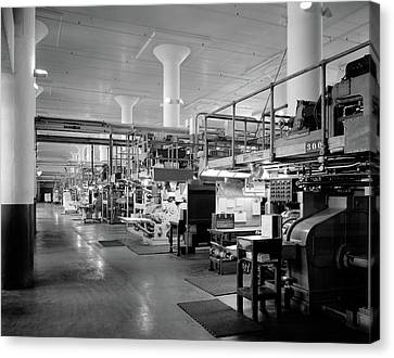Copy Machine Canvas Print - 1930s 1940s Machinery In A Factory by Vintage Images