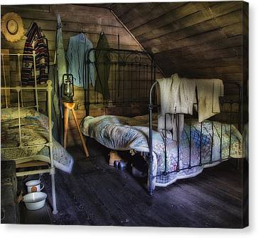 1930's Country Bedroom  Canvas Print by Steve Hurt