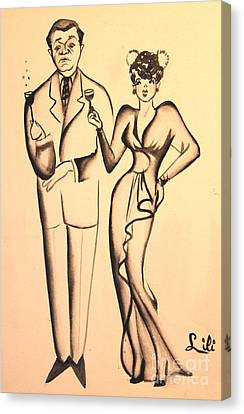 1930s Couple On The Town Canvas Print