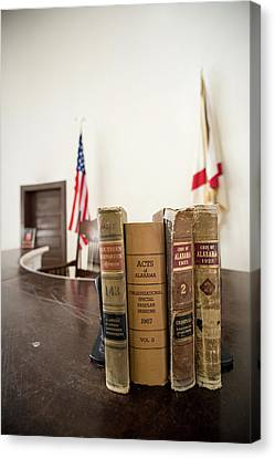 1930s Era Alabama Law Books Canvas Print by Panoramic Images