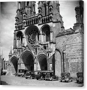 Portal Canvas Print - 1930s Laon Cathedral Constructed by Vintage Images