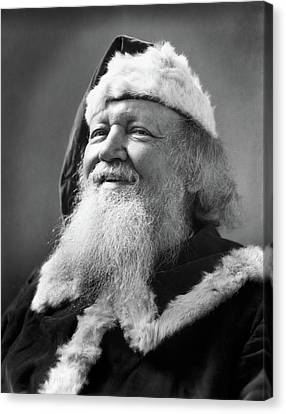 Father Christmas Canvas Print - 1930s Santa Claus Smiling Portrait by Vintage Images