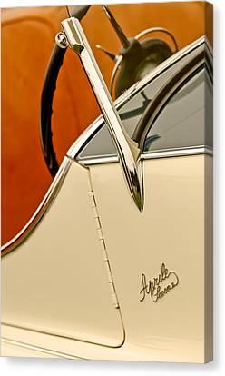 1931 Alfa Romeo 6c 1750 Gran Sport Aprile Spider Corsa Steering Wheel Canvas Print by Jill Reger