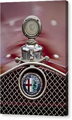 1931 Alfa-romeo Hood Ornament Canvas Print by Jill Reger
