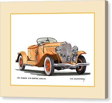 Auburn 8 98 Boattail Speedster Canvas Print