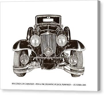 1931 Cord Cabriolet L 29 Canvas Print by Jack Pumphrey