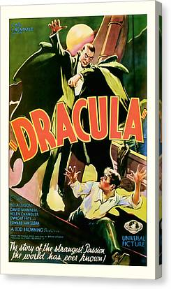 1931 Dracula Vintage Movie Art Canvas Print by Presented By American Classic Art