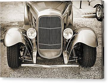 1931 Ford Model A Front End Classic Car In Sepia 3214.01 Canvas Print by M K  Miller