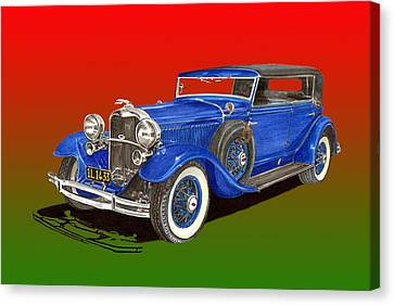 1931 Lincoln K Four Door Convertible Canvas Print by Jack Pumphrey
