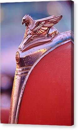 1932 Essex Griffin Hood Ornament Canvas Print by Jill Reger