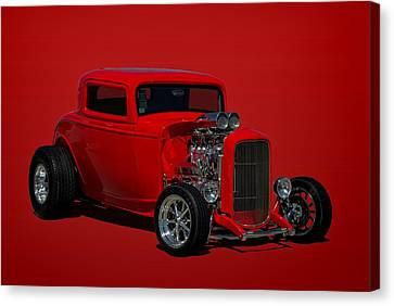 1932 Ford 3 Window Hot Rod Canvas Print by Tim McCullough