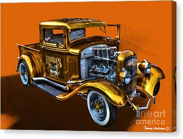 1932 Ford Truck Street Road Canvas Print by Tommy Anderson