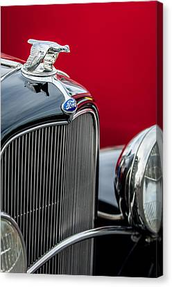 1932 Ford V8 Grille - Hood Ornament Canvas Print
