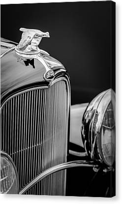1932 Ford V8 Hood Ornament - Grille Emblem Canvas Print by Jill Reger