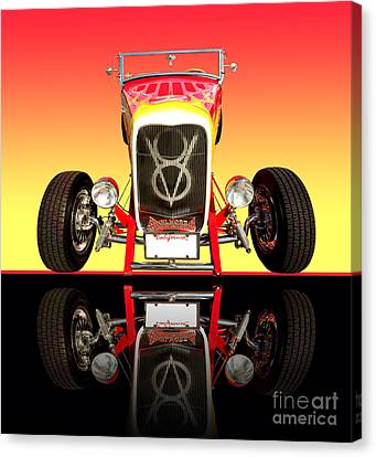 1932 Front Ford V8 Hotrod Canvas Print by Jim Carrell