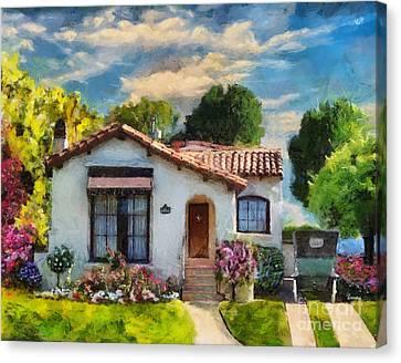 Alameda 1932  Spanish Beauty Canvas Print by Linda Weinstock