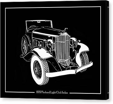 1932 Packard Light Eight Canvas Print by Jack Pumphrey