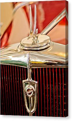 1932 Studebaker Dictator Custom Coupe Hood Ornament - Emblem Canvas Print by Jill Reger