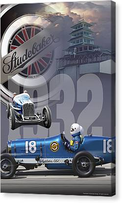 Canvas Print featuring the photograph 1932 Studebaker Indy by Ed Dooley