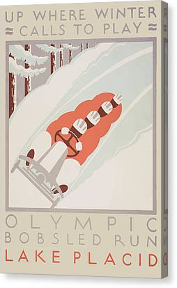 1932 Winter Olympics Canvas Print by American Classic Art