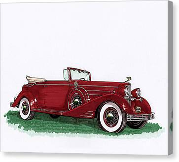 1933 Cadillac Convert Victoria Canvas Print by Jack Pumphrey