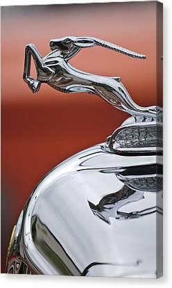 1933 Chrysler Cl Imperial Hood Ornament Canvas Print by Jill Reger