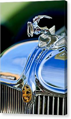 1933 Chrysler Imperial Hood Ornament 3 Canvas Print by Jill Reger