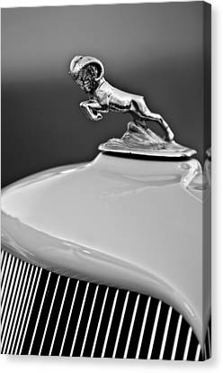 1933 Dodge Ram Hood Ornament 2 Canvas Print by Jill Reger