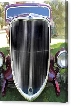 1933 Ford Grille Canvas Print