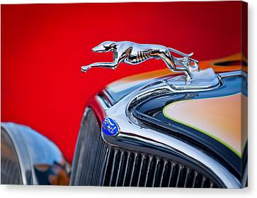 1933 Canvas Print - 1933 Ford Hood Ornament by Jill Reger