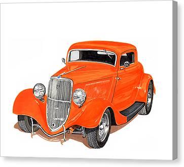 1933 Ford Three Window Coupelittle 33 Canvas Print
