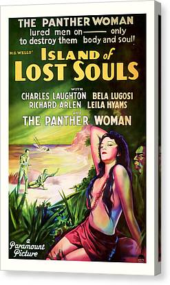 1933 Island Of Lost Souls Vintaage Movie Art Canvas Print by Presented By American Classic Art