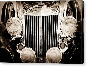 1933 Packard 12 Convertible Coupe Classic Car Canvas Print by Jill Reger