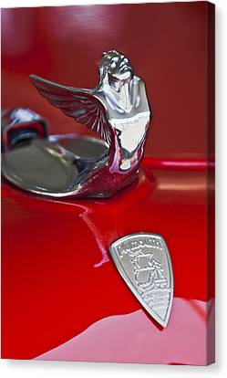 1933 Canvas Print - 1933 Plymouth Hood Ornament by Jill Reger
