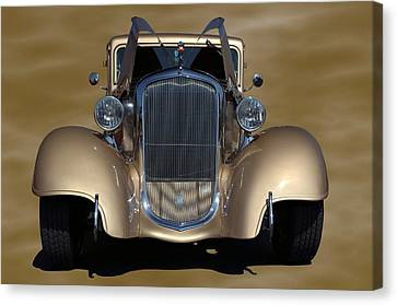 Canvas Print featuring the photograph 1933 Plymouth Hot Rod Coupe by Tim McCullough