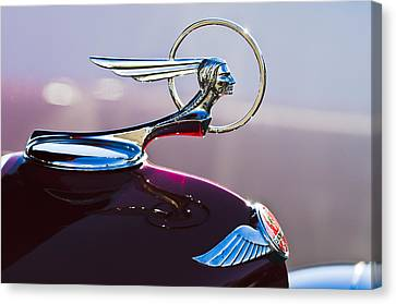 1933 Pontiac Hood Ornament Canvas Print by Jill Reger