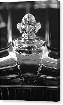 1933 Stutz Dv-32 Hood Ornament 4 Canvas Print by Jill Reger