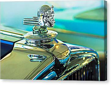 Mascots Canvas Print - 1933 Stutz Dv-32 Hood Ornament by Jill Reger