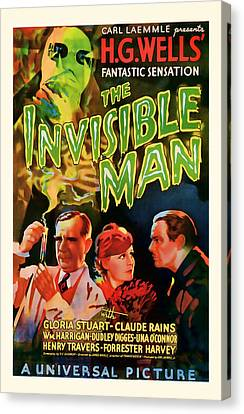 1933 The Invisible Man Vintage Movie Art Canvas Print by Presented By American Classic Art
