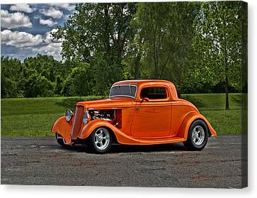 Canvas Print featuring the photograph 1934 Ford Coupe by Tim McCullough