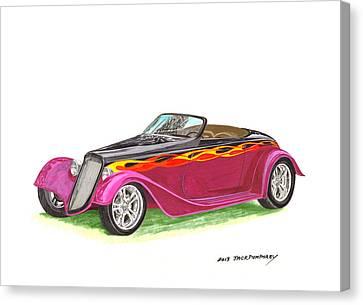 1934 Ford Custom Roadster Canvas Print by Jack Pumphrey