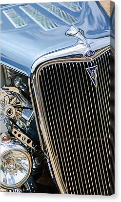1934 Ford Deluxe Hot Rod Grille Emblem Canvas Print
