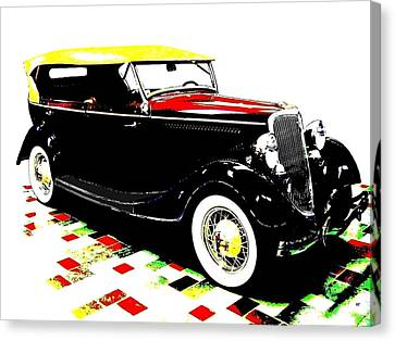 1934 Ford Phaeton V8  Canvas Print by Will Borden